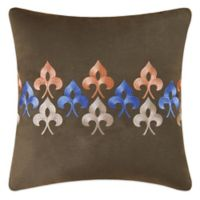 Nadia Embroidered Square Throw Pillow