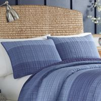 Nautica® Riverview Standard Quilted Sham in Dark Blue