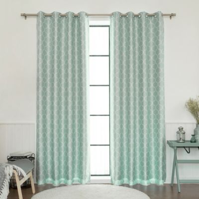 Seafoam Green Grommet Curtains Curtain Menzilperde Net