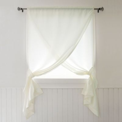 Decorinnovation Faux Silk 84 Inch Overlapping Rod Pocket Window Curtain Panel And Tie Backs In