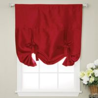 Decorinnovation Solid Faux Silk 42-Inch x 63-Inch Cordless Blackout Shade in Red