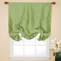 Decorinnovation Solid Faux Silk 42-Inch x 63-Inch Cordless Blackout Shade in Sage