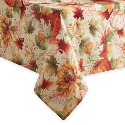 Autumn Sunflower52 Inch X 70 Inch Oblong Tablecloth