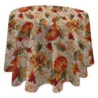 Autumn Sunflower 70-Inch Round Tablecloth