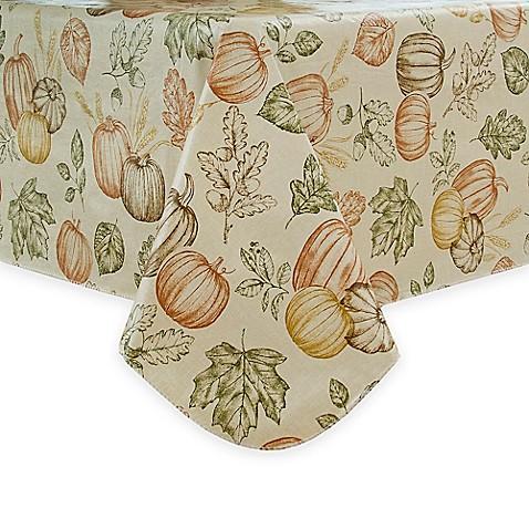 Sketched Harvest Vinyl Tablecloth Bed Bath Amp Beyond
