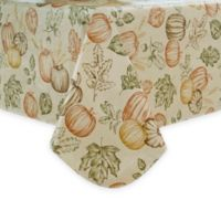 Sketched Harvest 60-Inch x 102-Inch Oblong Vinyl Tablecloth