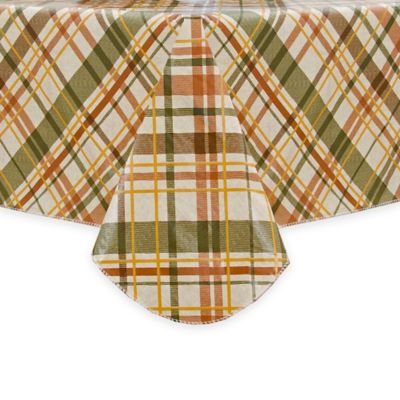Harvest Bias Plaid 60 Inch X 120 Inch Oblong Tablecloth