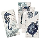 Laural Home® Seaside Postcard Table Napkin (Set of 4)