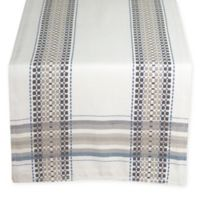Terra Woven French Picnic 90-Inch Table Runner in Blue