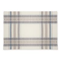 Terra Woven French Picnic Placemat in Blue