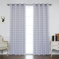 Decorinnovation Houndstooth 84-Inch Grommet Top Window Curtain Panel Pair and Tie Backs in Lilac