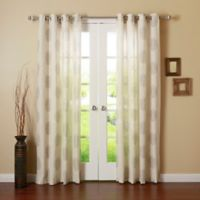 Decorinnovation Medallion 84-Inch Grommet Top Window Curtain Panel Pair in Grey