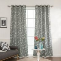 Decorinnovation Maritime 84-Inch Grommet Top Room Darkening Window Curtain Panel Pair in Grey