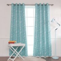 Decorinnovation Maritime 84-Inch Grommet Top Room Darkening Window Curtain Panel Pair in Ocean