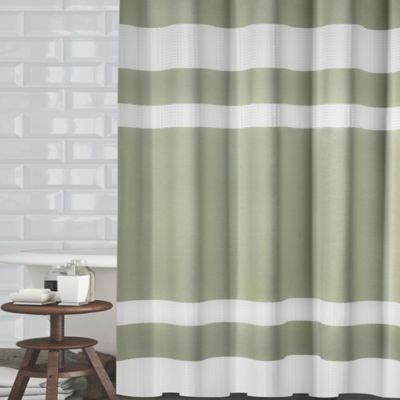 ravello textured stripe 72inch shower curtain in sage