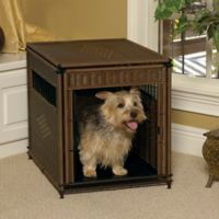 Wicker Small Pet Residence in Dark Brown