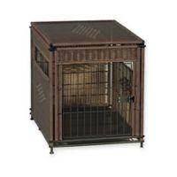 Wicker Medium Pet Residence in Dark Brown