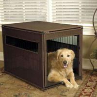 Wicker Large Pet Residence in Dark Brown