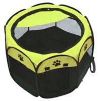 29-Inch Portable Travel Pet Playpen in Black/Green