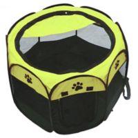 36-Inch Portable Travel Pet Playpen in Black/Green