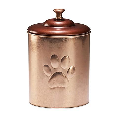 Large Copper Dog Food Canister