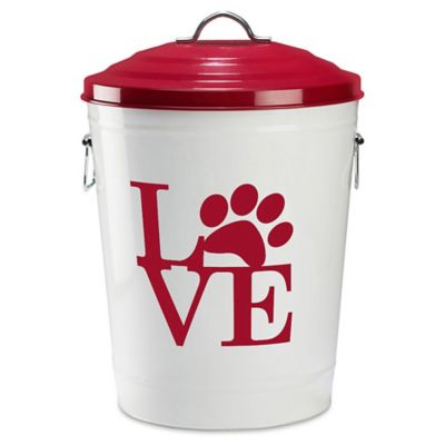 happy hound pet food storage large in red