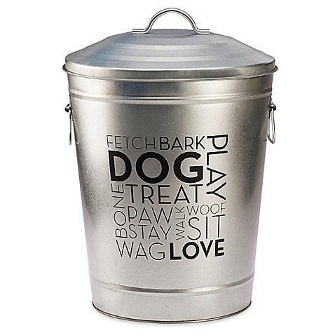 Large Decorative Dog Food Container