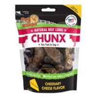 Pet 'n Shape Natural Beef Lung CHUNX 4 oz. Cheese Flavored Dog Treats