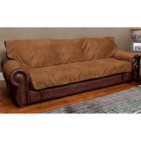 Sta-put™ Full-Coverage Sofa Protector for Pets in Cocoa
