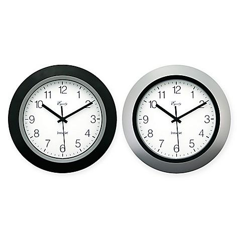 Equity 174 Insta Set Analog Wall Clock Bed Bath Amp Beyond