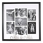 "Occasions Clove ""Mrs. and Mrs."" 7-Photo Collage Frame"