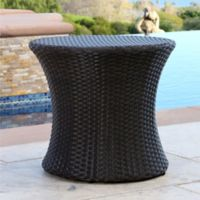 Abbyson Living® Carlsbad Outdoor Wicker End Table in Espresso