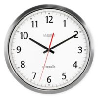 UltrAtomic Analog Wall Clock in Silver