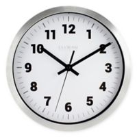 La Crosse® Technology Analog Circular Wall Clock in Silver