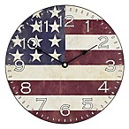 La Crosse Technology Flag MDF Wall Clock in Red/White/Blue