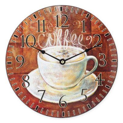 La Crosse Technology Coffee MDF Wall Clock In Brown