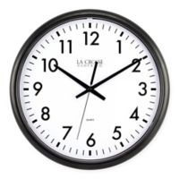 La Crosse Technology Thinline Quartz Wall Clock in Black