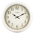La Crosse Technology Antique Wall Clock in White