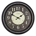 La Crosse Technology® Modern Wall Clock in Brown/White