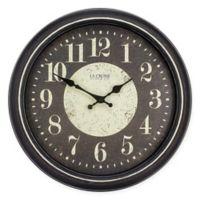 La Crosse Technology® Modern Wall Clock in Brown/White
