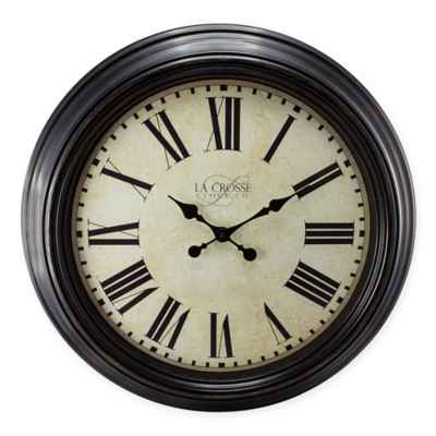 La Crosse Technology Antiqued Wall Clock in Bronze