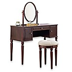 Bella Vanity and Stool Set in Cherry