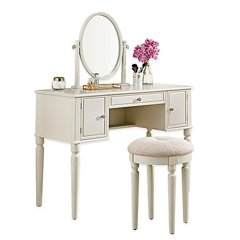 Buy Bella Vanity And Stool Set In Ivory From Bed Bath Amp Beyond