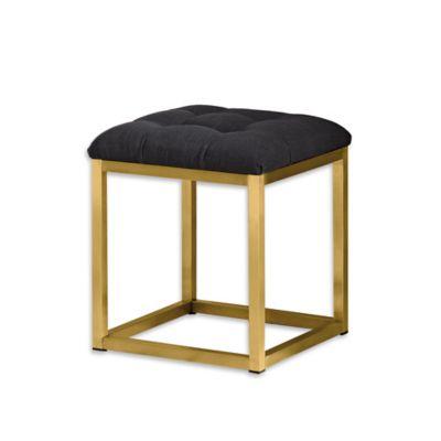 lf products jasmine vanity stool in grey