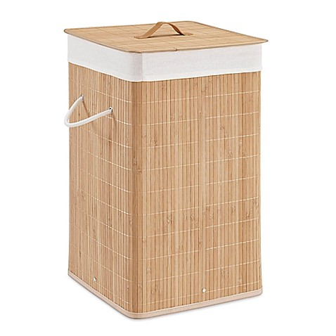 Bamboo Hamper In Natural Set Of 2 Bed Bath Amp Beyond
