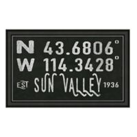 Sun Valley Idaho Coordinates Framed Wall Art