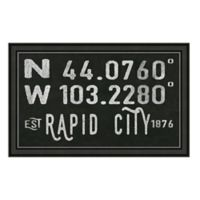 Rapid City South Dakota Coordinates Framed Wall Art