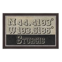 Sturgis South Dakota Coordinates Framed Wall Art