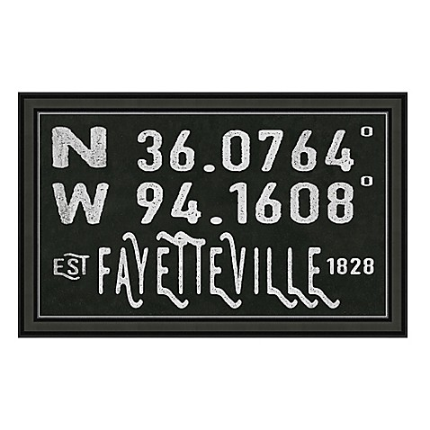 Fayetteville Arkansas Coordinates Framed Wall Art Bed