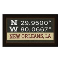 New Orleans Louisiana Coordinates Framed Wall Art